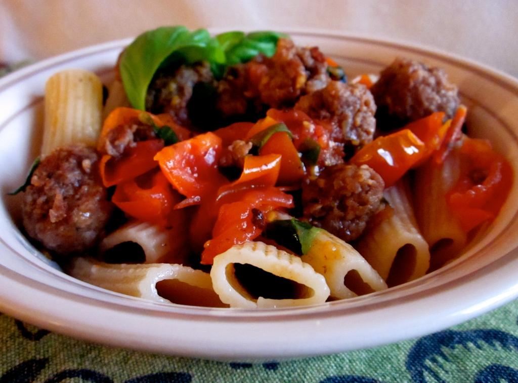 italian sausage and pasta