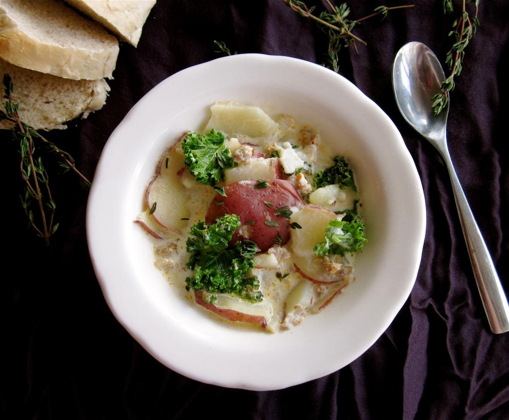 Delicious Sausage Potato & Kale Soup