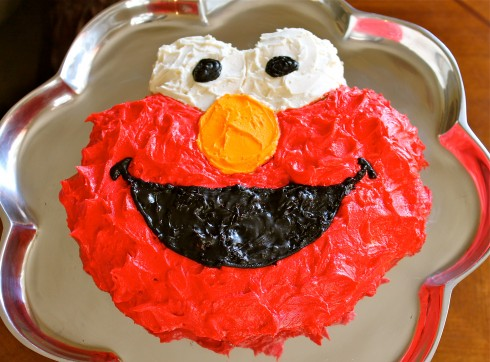 Groovy Elmo Cake Tutorial For Dummies Without An Elmo Cake Pan The Personalised Birthday Cards Cominlily Jamesorg